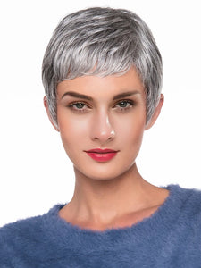 Human Hair Capless Wigs Human Hair Natural Wave Pixie Cut Style New / Hot Sale / Comfortable Dark Gray Short Capless Wig Women's / All / African American Wig / For Black Women - Vipbeautycompany