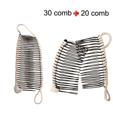 Load image into Gallery viewer, Hair Clip Hairpins and dish Girls Curly Hair Accessory Stretchable Banana Comb Hairpins Pins Styling Hair Coloring Chalk - Vipbeautycompany