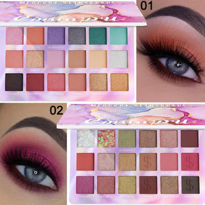 18 Colors Nude Shining Glitter Eyeshadow Palette Shimmer Matte Long Lasting Makeup Powder Pigment Waterproof Eye Shadow  TSLM1 - Vipbeautycompany