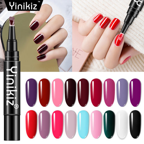 Yininkiz Gel Nail Polish Pen  One Step Gel Pencil - Vipbeautycompany