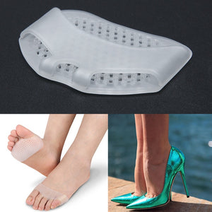 1Pair Silicone heel pad Soft Forefoot Half Yard Pads Invisible High Heel Shoes Slip Resistant Half Yard Pads Foot Care Tools - Vipbeautycompany