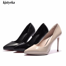 Load image into Gallery viewer, 2020  Shoes women pumps elegant super High heel pumps Shallow mouth Pointed office classic red bottom dress zapatos mujer tacon - Vipbeautycompany