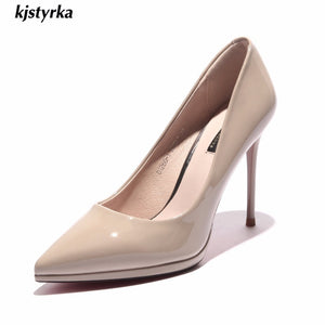 2020  Shoes women pumps elegant super High heel pumps Shallow mouth Pointed office classic red bottom dress zapatos mujer tacon - Vipbeautycompany