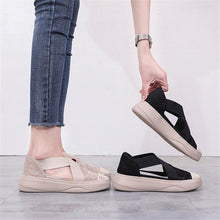 Load image into Gallery viewer, Shoes Woman flock Comfortable Breathable Mesh vulcanized shoes Jelly Shoes Sandals Hollow Out - Vipbeautycompany