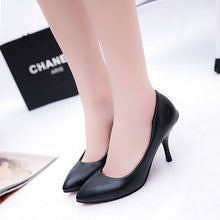 Load image into Gallery viewer, 2020 new red bottom high heels shallow mouth Pointed Toe PU leather Thin Heels wedding party sexy high heels zapatos de mujer - Vipbeautycompany