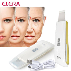 Ultrasonic Ion Skin Scrubber Rechargeable Microdermabrasion Deep Cleaning High Frequency Vibration Face Peeling Massager Spa - Vipbeautycompany