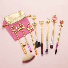 Load image into Gallery viewer, 8 Sailor Moon Makeup Brushes Anime Periphery Birthday Holiday Gifts - Vipbeautycompany