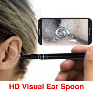 3 In 1 USB Endoscope HD Visual Ears Cleaning Earpick Spoon with 6 LED Light Ear Cleaning Tool Ear Massage - Vipbeautycompany