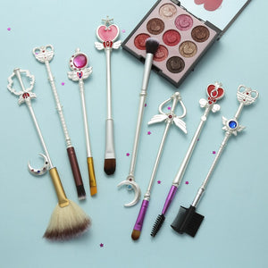 8 Sailor Moon Makeup Brushes Anime Periphery Birthday Holiday Gifts - Vipbeautycompany