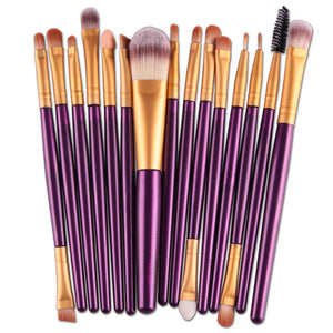 15Pcs Makeup Brushes Set Eye Shadow Foundation Powder Eyeliner Eyelash Lip Make Up Brush Cosmetic Beauty Tool - Vipbeautycompany