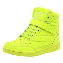 Load image into Gallery viewer, Women's Sneakers Wedge Heel Round Toe Buckle PU(Polyurethane) Booties / Ankle Boots Comfort Fall Fuchsia / Peach / Green - Vipbeautycompany