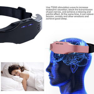 Help Sleep Mask Wireless Charging Electric Hypnosis Head Sleep Instrument Acupuncture Sleep Aid Instrument Insomnia treatment - Vipbeautycompany