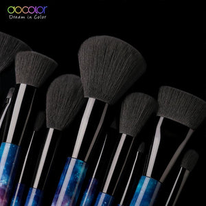 Docolor 12PCS Galaxy Makeup Brushes Professional Make up brushes Sky Night Handle Synthetic - Vipbeautycompany