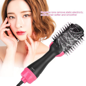 Multifunctional 2 in 1 Hair Dryer Volumizer Rotating Hot Hair Brush - Vipbeautycompany