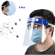 Load image into Gallery viewer, 5 Pcs Plastic Full Face Shield Transparent Adjustable Windproof Dustproof Hat Shield Protective Face Mask - Vipbeautycompany