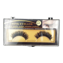 Load image into Gallery viewer, 1 Pair Long Natural 3D Mink Eyelashes - Vipbeautycompany