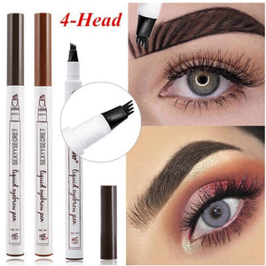 4 Colors 4 Head eyebrow pencil microblading eyebrow tattoo pen for brwi eyebrows shades makeup cosmetics sourcil eye brow pencil - Vipbeautycompany