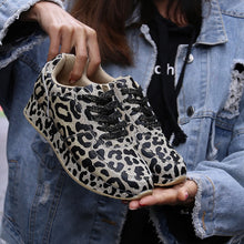 Load image into Gallery viewer, Sneakers Shoes Spring Autumn Leopard Pattern Design Fabric Comfortable Casual Sneakers Flats Shoes Women - Vipbeautycompany