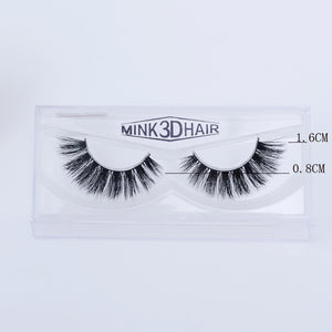Wispy Volume Long False Eyelashes Women Theatrical Makeup Real Mink Hair 3D Fake Lashes Full Strip Lashes - Vipbeautycompany