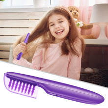 Load image into Gallery viewer, Portable Electric Detangling Wet or Dry Tame The Mane Electric Detangling Brush with Brush Cover, Adults & Kids - Vipbeautycompany