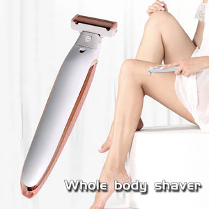 Electric Lady Shaver Razor Flawless Body Hair Shaver Painless Bikini Trimmer USB Rechargeable Fast Hair Shaving Machine - Vipbeautycompany
