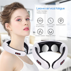 Electric Pulse Neck Massager Cervical Vertebra Impulse Massage Physiotherapeutic Acupuncture Magnetic Therapy Relief Pain Tool - Vipbeautycompany