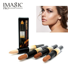 Load image into Gallery viewer, IMAGIC Makeup Creamy Double-ended 2in1 Contour Stick Contouring Highlighter Bronzer Create 3D Face Concealer Full Cover Blemish - Vipbeautycompany