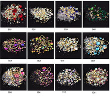Load image into Gallery viewer, 1 Box Mixed Kleurrijke Steentjes Voor Nagels 3D Crystal Stones Voor Nail Art Decoraties Diy Ontwerp Manicure Diamanten - Vipbeautycompany