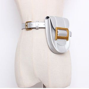 Fanny Pack Women Snak skin Belt Bag PU Leather Vintage Serpentine Waist Bag Metale Letter Messenger Chest Pack Coin Purse - Vipbeautycompany