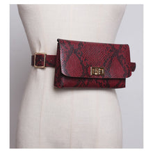 Load image into Gallery viewer, Fanny Pack Fashion Serpentine Waist Bag Women Leather Waist Pack Vintage Waist Belt Bags Phone Pocket - Vipbeautycompany
