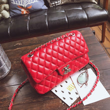 Load image into Gallery viewer, Luxury Designer Chain Messenger Bag woman bag Leather Handbags female Small Flap Crossbody Shoulder bag sac a main Purse bolsos - Vipbeautycompany