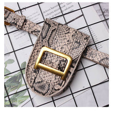 Load image into Gallery viewer, Fanny Pack Women Snak skin Belt Bag PU Leather Vintage Serpentine Waist Bag Metale Letter Messenger Chest Pack Coin Purse - Vipbeautycompany
