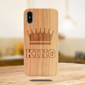 Laser Engraving Real Wood Cell Phone Case for iPhone XS MAX XR 7 8PLUS X Wooden Unique Shock Customized Bamboo Phone Cover Shell - Vipbeautycompany