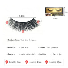 Load image into Gallery viewer, Natural Lashes Lightweight 100% Mink False Eyelashes Maquillaje Suppliers 2019 New Dramatic Eye Lashes - Vipbeautycompany