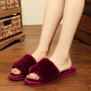 Women Slippers Women Love Heart Cotton Slippers Winter Non-Slip Floor Home Furry Slippers Women Shoes For Bedroom - Vipbeautycompany
