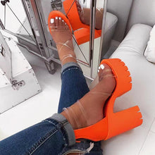 Load image into Gallery viewer, Autumn new women's high-heeled cross PVC straps outdoor travel sandals rubber bottom non-slip slippers increased sandals - Vipbeautycompany