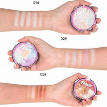 Load image into Gallery viewer, Brand 5 Color Flower 3D Baked Highlighter Palette Bronzer Highlighting Glow Makeup Shimmer Rainbow Highlight Illuminator Contour - Vipbeautycompany
