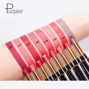 Matte Lipstick Wateproof Double Ended Long Lasting Lipsticks Brand Lip Makeup Cosmetics Nude Dark Red Lips Liner Pencil - Vipbeautycompany