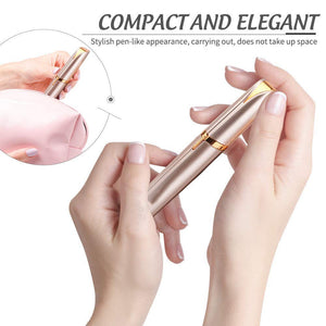 Mini Electric Eyebrow Trimmer Lipstick Brows Pen Hair Remover Painless Eye brow Razor Epilator With LED Light - Vipbeautycompany