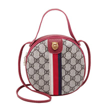 Load image into Gallery viewer, Women Shoulder Bags Tiger Head PU Leather Handbags Bags Ladies Party Fashion Round Popular Shape Printing Girls Crossbody Bag - Vipbeautycompany