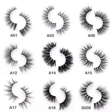 3D Mink Eyelashes Crossing Mink Lashes Hand Made Full Strip Eye Lashes 34 Styles cilios naturais False Lashes - Vipbeautycompany