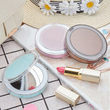 Load image into Gallery viewer, LED Lighted Mini Makeup Mirror 3X Magnifying Compact Travel Portable Sensing Lighting Touch Screen Makeup Mirror - Vipbeautycompany