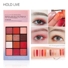Load image into Gallery viewer, HOLD LIVE Color Focus Charm Shaow Eye Shadow Palette 12 Colors Matte Glitter Eyeshadow Palettes Pigment Nude Shadows Makeup Set - Vipbeautycompany