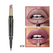 Load image into Gallery viewer, Matte Lipstick Wateproof Double Ended Long Lasting Lipsticks Brand Lip Makeup Cosmetics Nude Dark Red Lips Liner Pencil - Vipbeautycompany