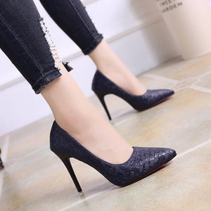 Europe Sexy Women Shoes Red Bottom High Heels Pumps Spring/Autumn 2020 New Pointed Thin Heels Slip-on Shoes Woman Party Shoes