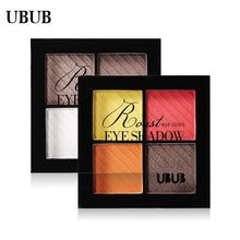 Load image into Gallery viewer, UBUB 4 Colors Eyeshadow Shimmer Natural Eyeshadow  Matte Nude Metallic Earth Color Eye Shadow Beauty Makeup Palette - Vipbeautycompany
