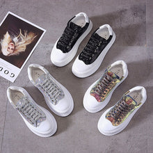 Load image into Gallery viewer, Female Women Leisure Mujer Lady Lace-Up Plimsolls Chaussures Slugged Bottom Flange Soled Walking Heighten Flat Casual Shoes A466 - Vipbeautycompany