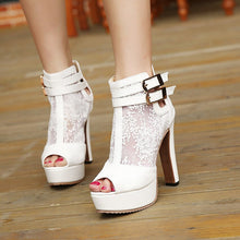 Load image into Gallery viewer, Hot sale platform pumps Red Bottom High Heels sexy high-heeled shoes thin heels Open Toe High heels platform Wedding Shoes - Vipbeautycompany