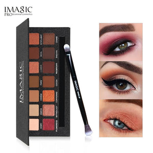 IMAGIC  Eyeshadow Palette 14 Colors Eyes Shimmer Matte Eyeshadow Makeup Light Eye Shadow Palette Shades With Brush - Vipbeautycompany
