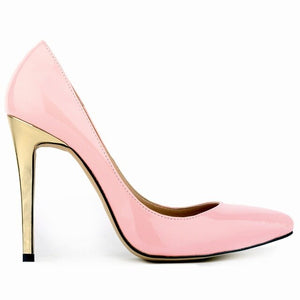 LOSLANDIFEN Classic Sexy Women Pumps Fashion Gold Heels Red Bottom 11cm High Heels Shoes Wedding Party Shoes Pumps 302-1 - Vipbeautycompany